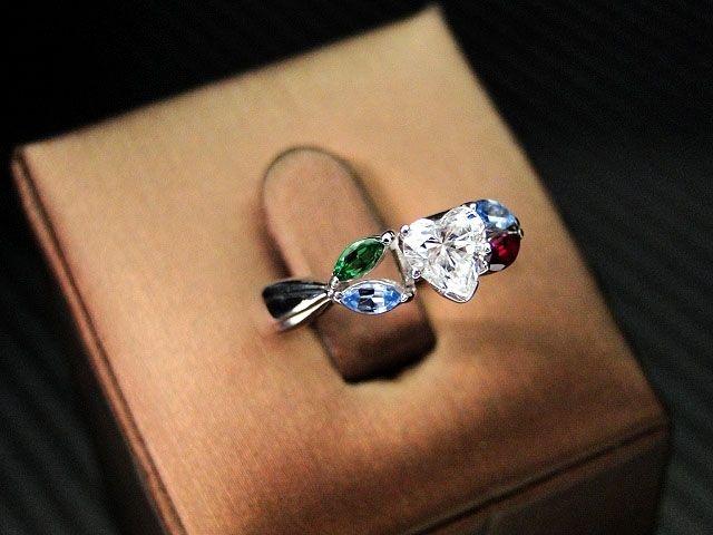 Hand Crafted John Cordova s 14k White Gold Heart Shape Diamond