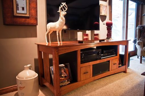 Custom Made Arts& Crafts Entertainment Center