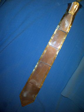 Custom Made Armour Tie  - Late Mediaeval - Brass Border