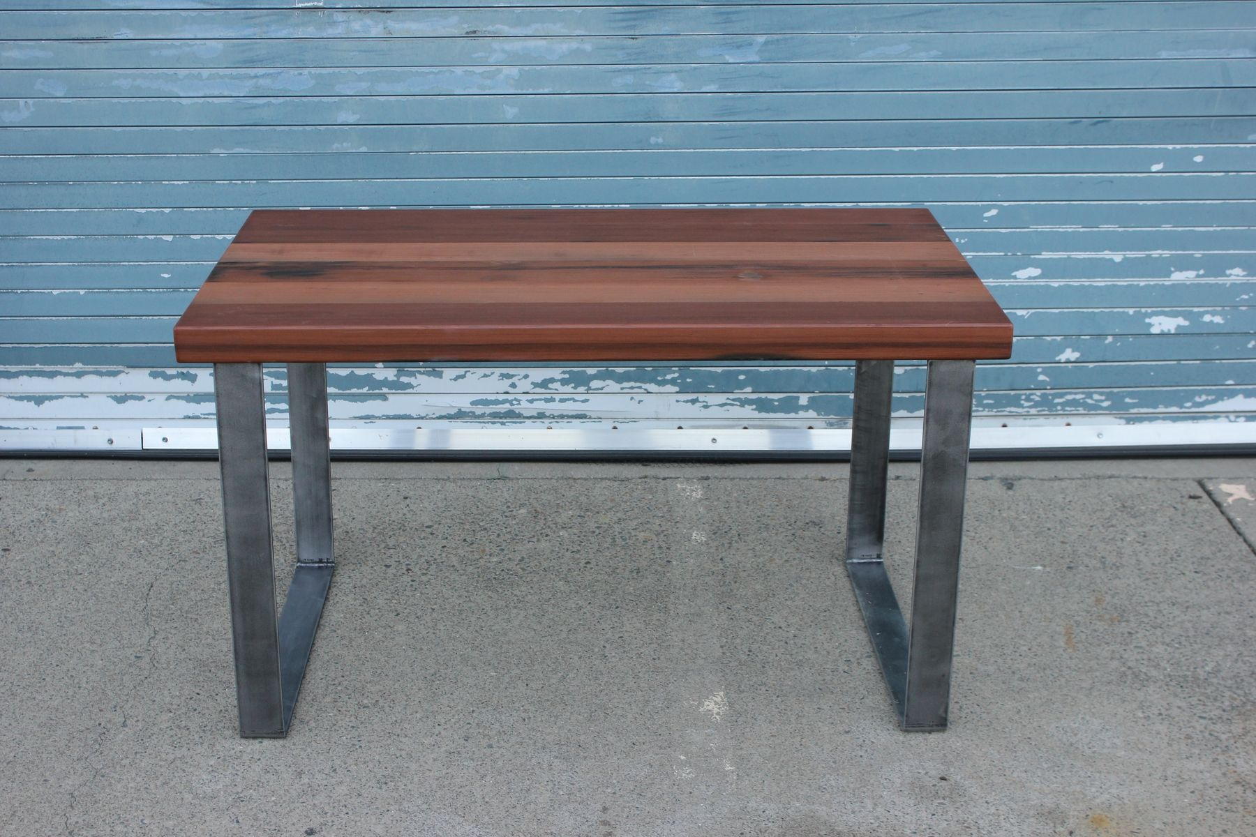 Custom Redwood And Steel Desk by Smithson Fine Furniture ...