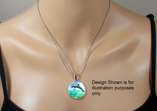 Custom Made Pet Memorial Pendant - Glass And Stainless Steel