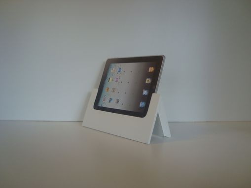 Custom Made The Tabitat Tablet Stand System For Ipad In Ivory Mdf