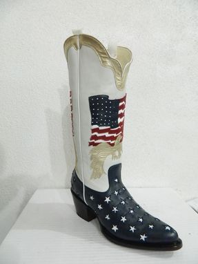 Custom Made Us Inlay Flag Cowboy Boots Made To Your Size