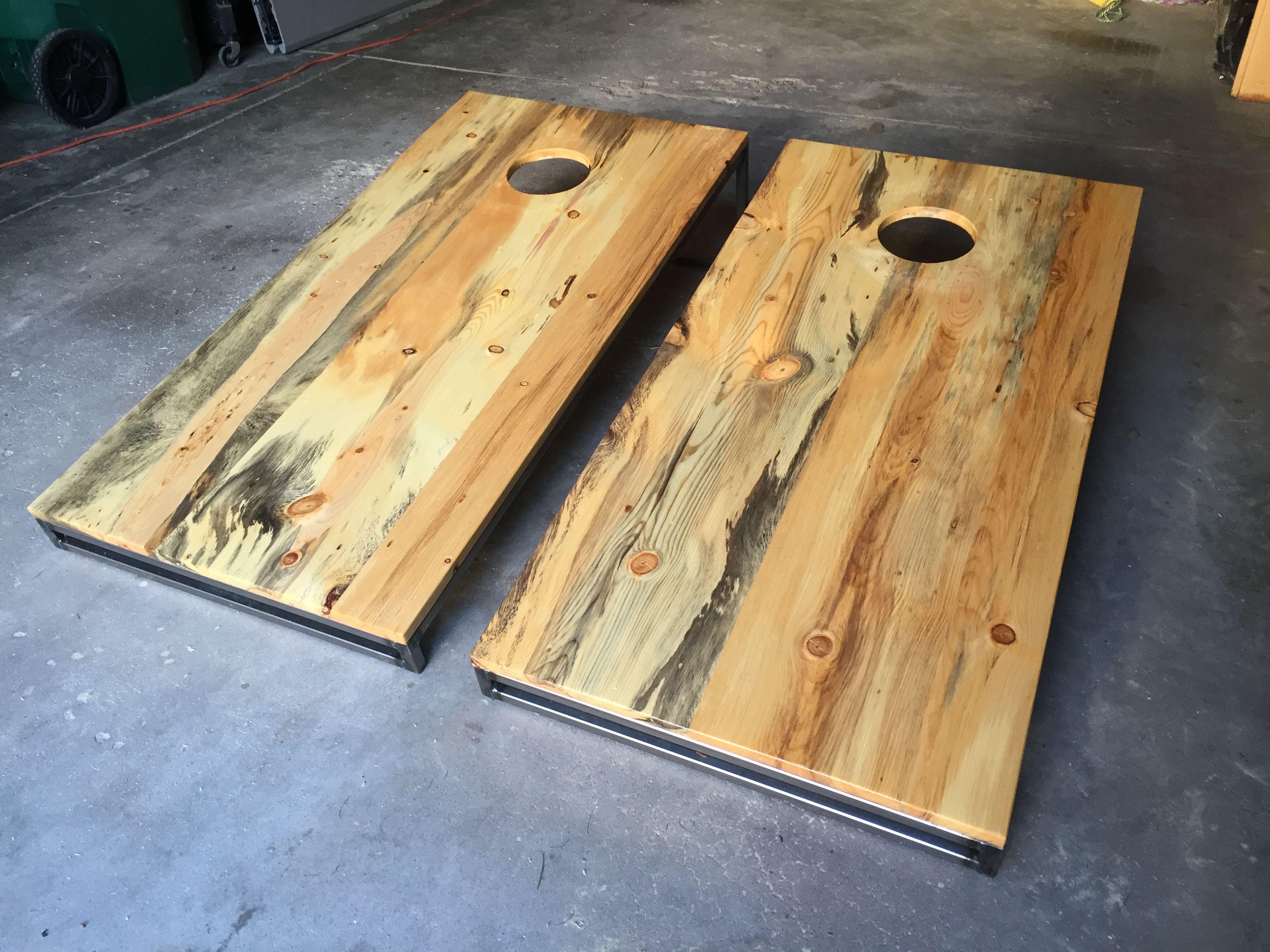 Buy Custom Made Beetle Kill Pine Cornhole Bag Boards