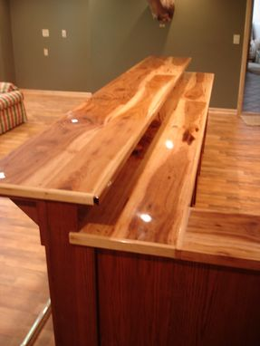Custom Oak Bar With Hickory Counter Top By Smith
