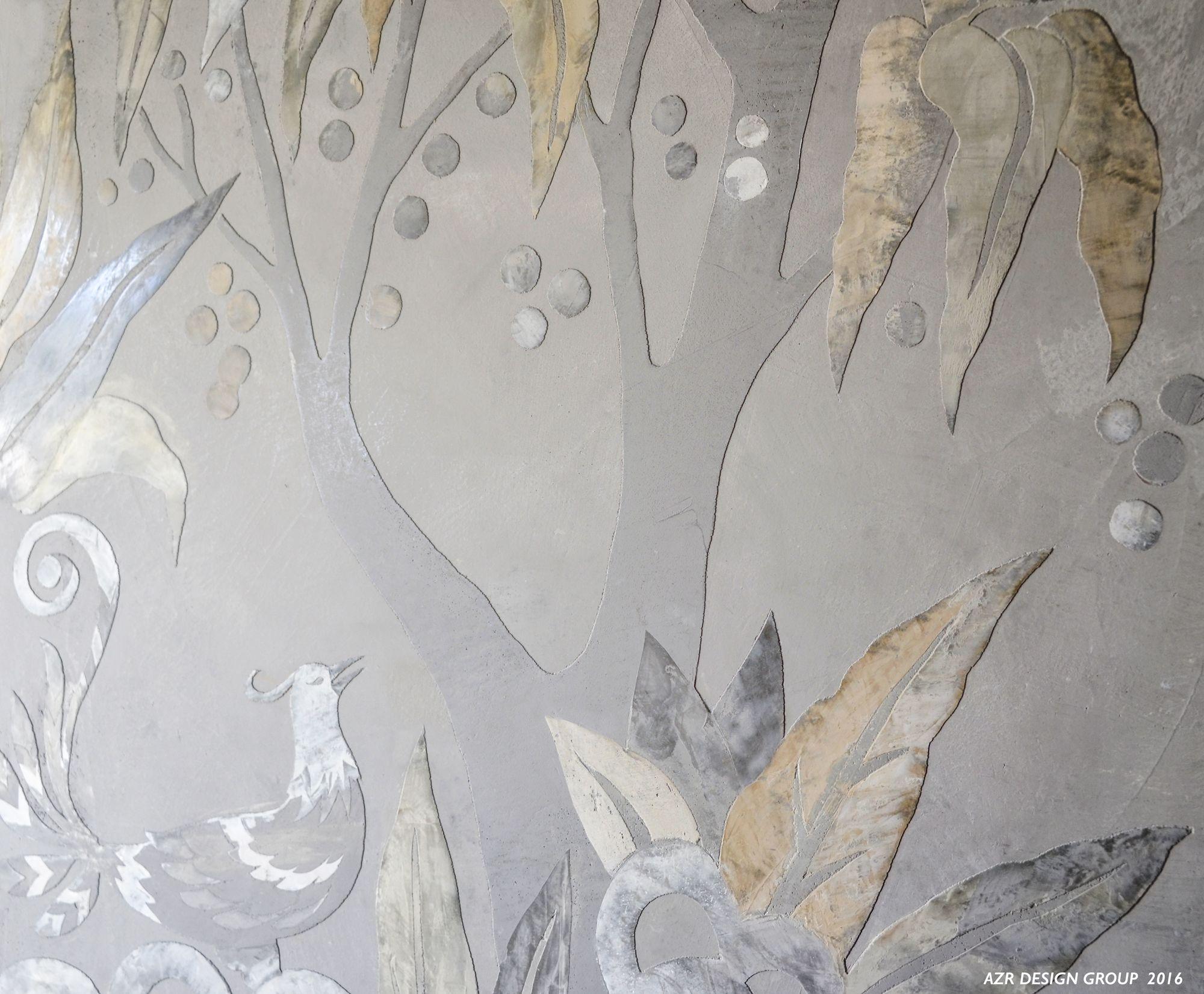 - Custom Made Raised Venetian Plaster Murals By Azr Design Group