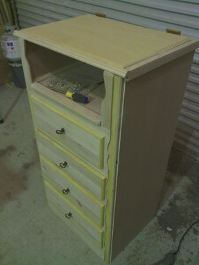 Custom Made Solid Wooden Girl'S Dresser With Cedar Lining
