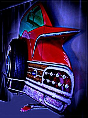 Custom Made 1960 Ford Country Squire Lighted Wall Art