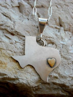 Custom Made Heart Of Texas Pendant Or Earrings