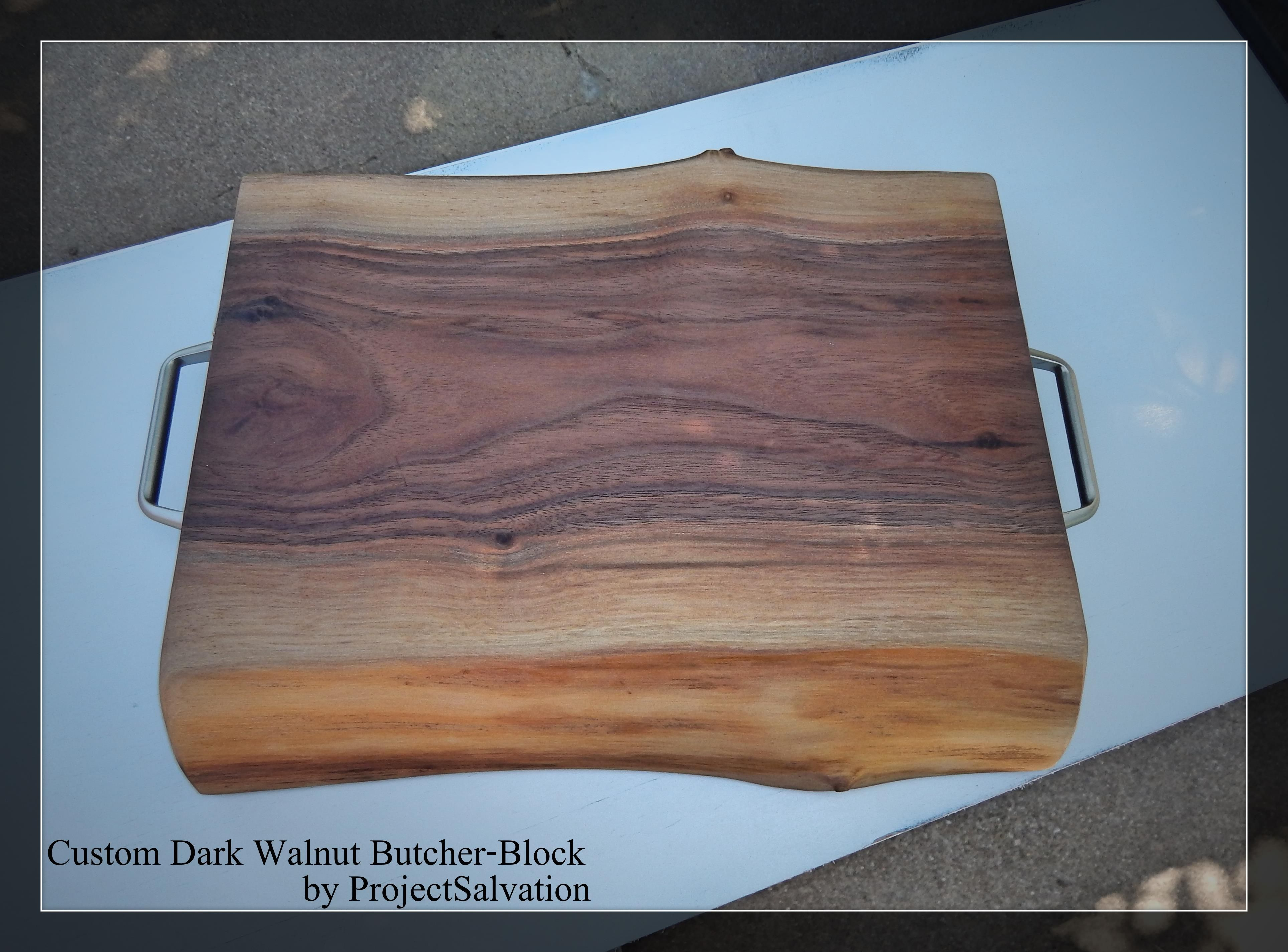 Custom live edge butcher block reclaimed wood cutting for Recycled wood board