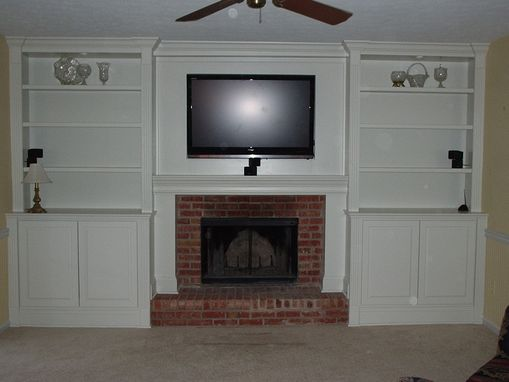 Custom Made Bookcases And Media Center