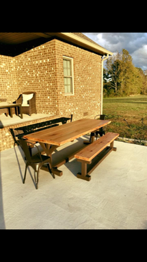 Custom Made Custom Made Table And Bench Seats For An Outdoor Patio Or Dining Room
