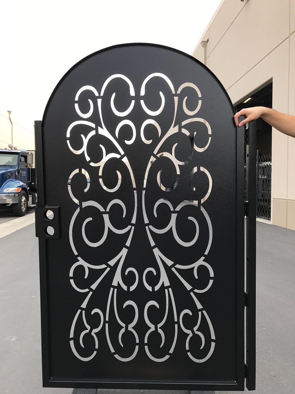 Buy A Handmade Modern Solid Design Metal Gate Steel Garden Walk Thru Pedestrian Made To Order