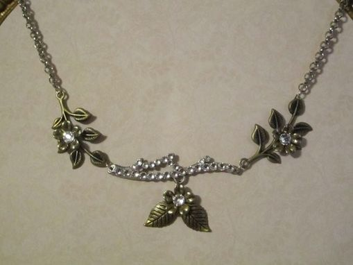 Custom Made Crystal Branch Flower Necklace