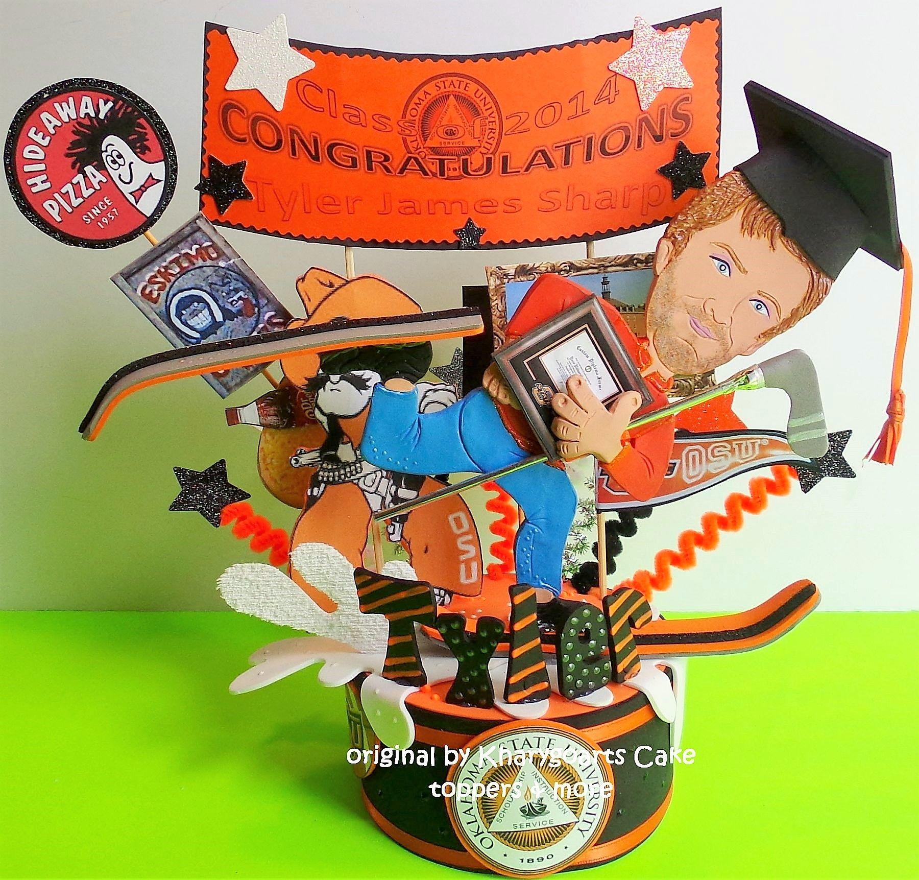 Custom Made Graduation Birthday Cake Topper For Men High Shool College