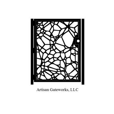 Custom Made Metal Art Gate - Decorative Steel - Fracture - Architectural Panel - Garden Gate - Custom Gate