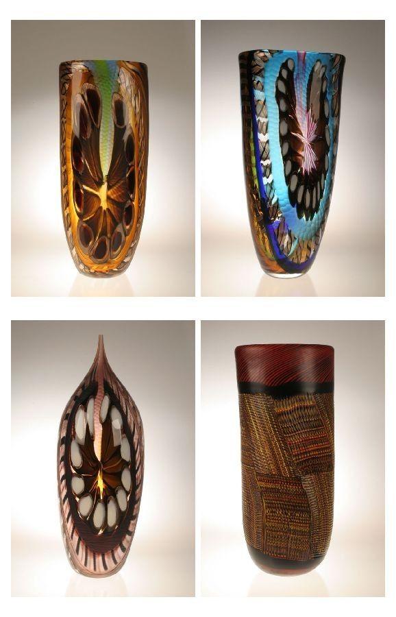 Hand Made Murano Art Glass Vases By Gianluca Vidal By Joseph Wright