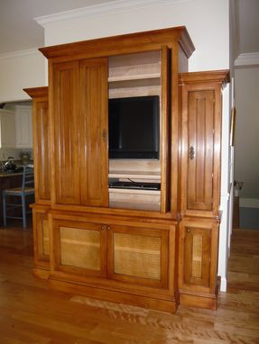 Custom Made Television Cabinet W/ Distressed Finish