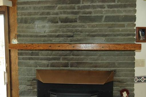 Custom Made Reclaimed Oak Beam Mantle