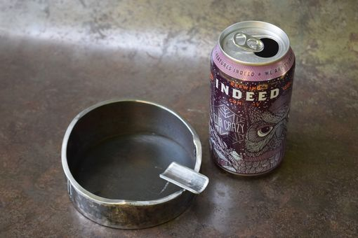 Custom Made Waive: Industrial Steel Ashtray By The Big Purple Barn