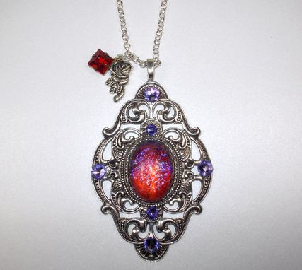 Custom Made Dragons Breath Opal Victorian Necklace
