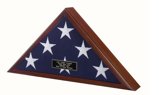 Custom Made Buy Flag Display Case - Fit Large Flag, Burial Flag 5ft X 9.5ft