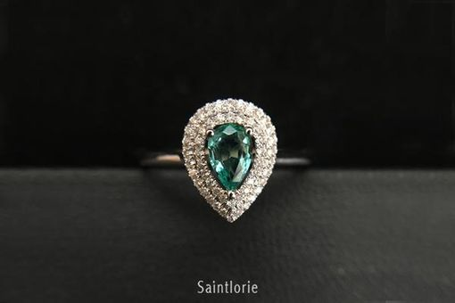 Custom Made 0.4 Carat Emerald Engagement Ring