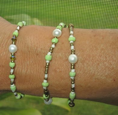 Custom Made Spring Bracelet Set. Stretchy. Beach Jewelry. Made In Maui. Artisan. Rustic Jewelry.