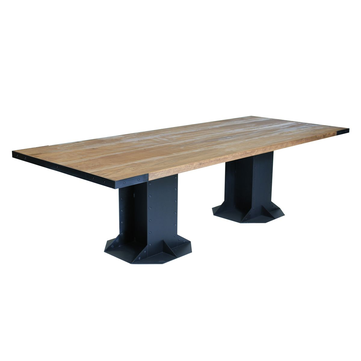 Handmade i beam table for kitchen or dining by iron work for Table 6 4 specification for highway works