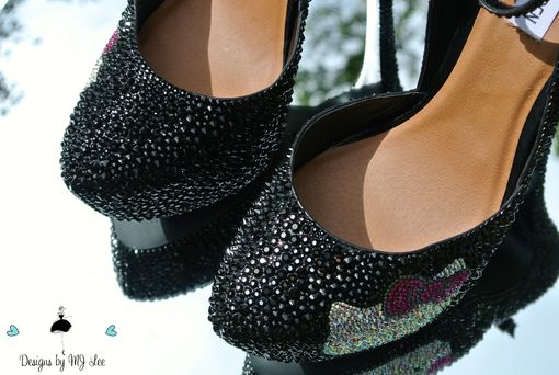a9e9ff6f1cf Hand Made Bling Black Strass Heels With Hello Kitty | Made With ...