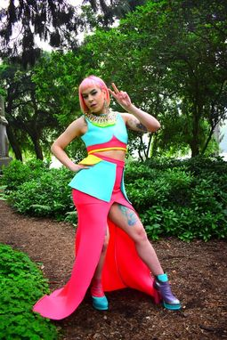 Custom Made Color Block 2pc Gown - Audrey