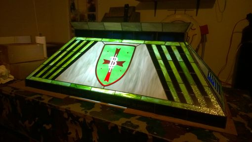 Custom Made Patriotic Military Pool Table Light