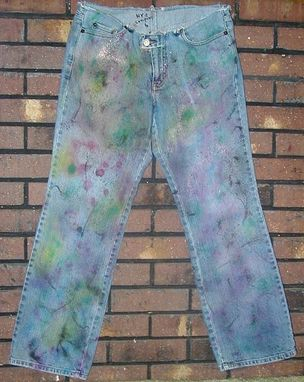 Custom Made Haze Designer Reconstructed New York & Co Low Rider Jeans  Ladies Sz 6 (094-W)