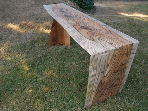 Custom Made Cedar Waterfall Bench