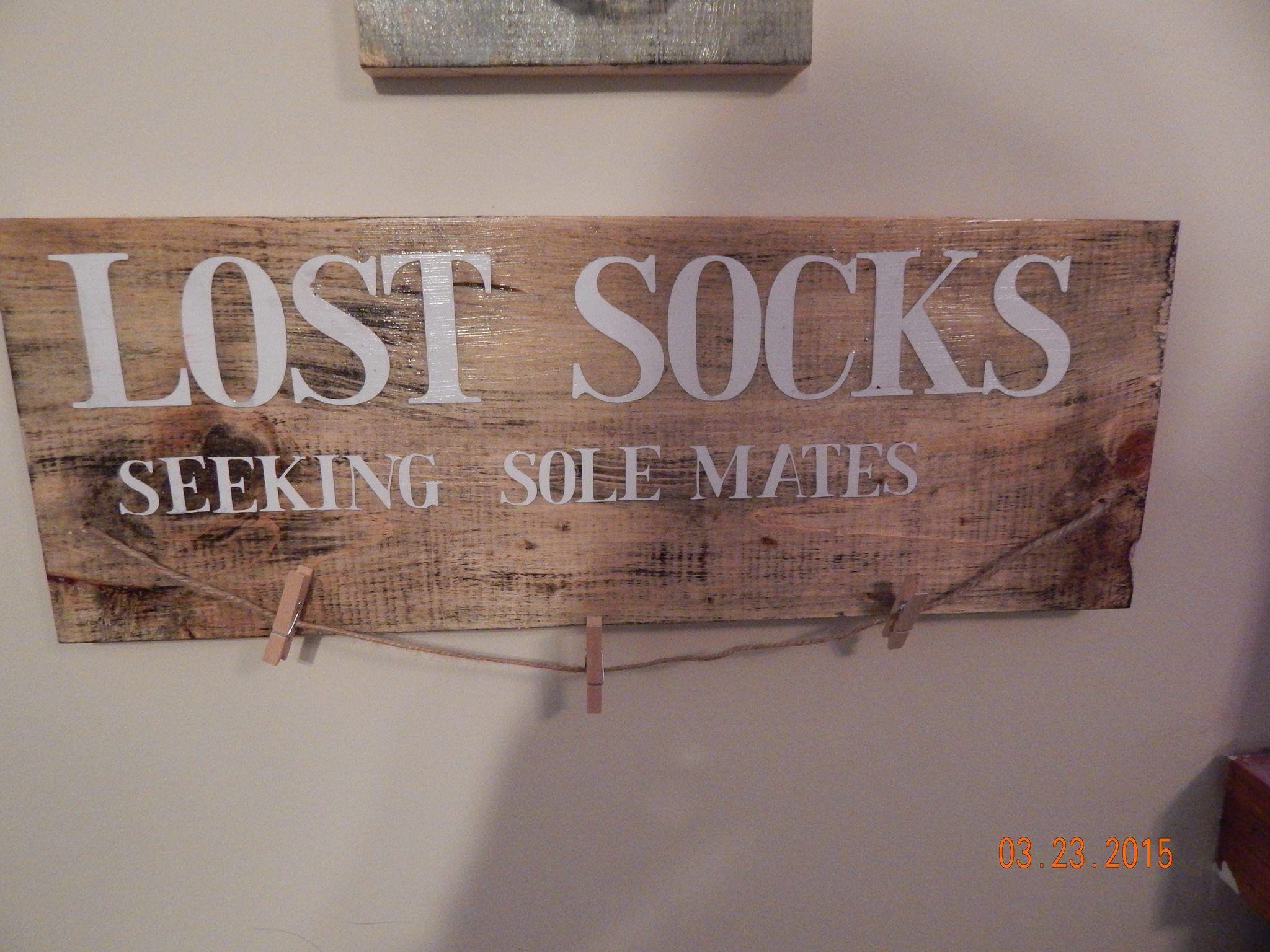 Rustic Laundry Room Signs Handmade Lost Socks Rustic Laundry Room Signviles Woodworking