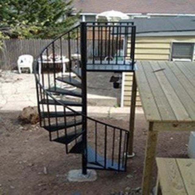Custom Exterior Spiral Staircase & Installation Included by ...