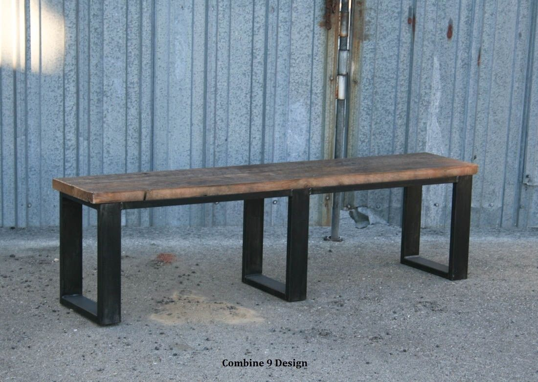 Buy a Handmade Vintage Industrial Bench. Seat. Reclaimed Wood ...