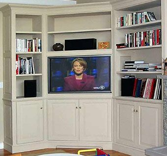 Custom Made Built-In Corner Entertainment Center