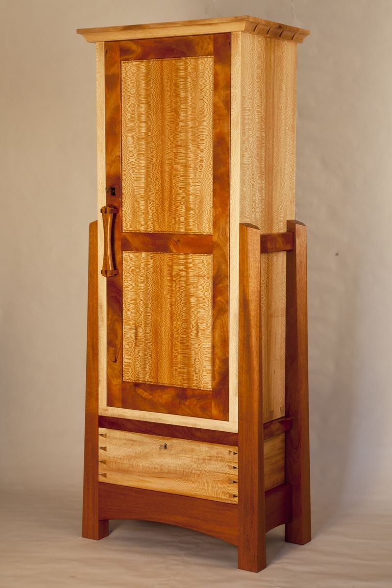 Hand Crafted Mahogany Amp Sycamore Gun Cabinet By Corlis