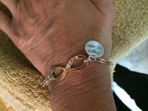 Custom Made Infinity Bracelet With Charm