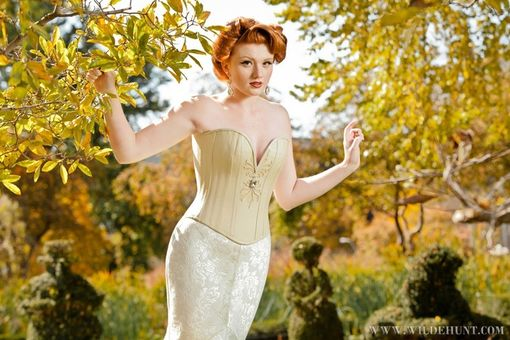 Custom Made Acanthus Overbust Bridal Corset