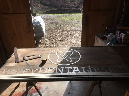 Custom Made Decorative Metal And Reclaimed Barn Wood Sign