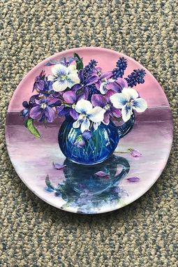 Custom Made Available Violets Upon Reflection Photorealism