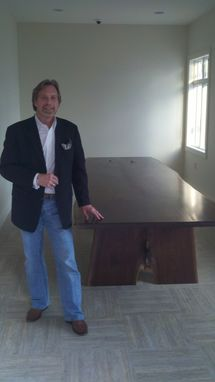 Custom Made Black Walnut Live Edge Dinning Table