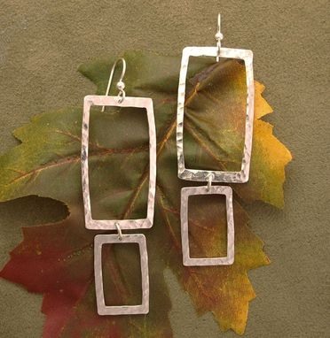 Custom Made Double Square Hoop Earrings