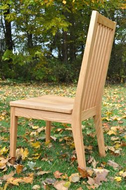 Custom Made Mission Style Slat Back Dining Chair