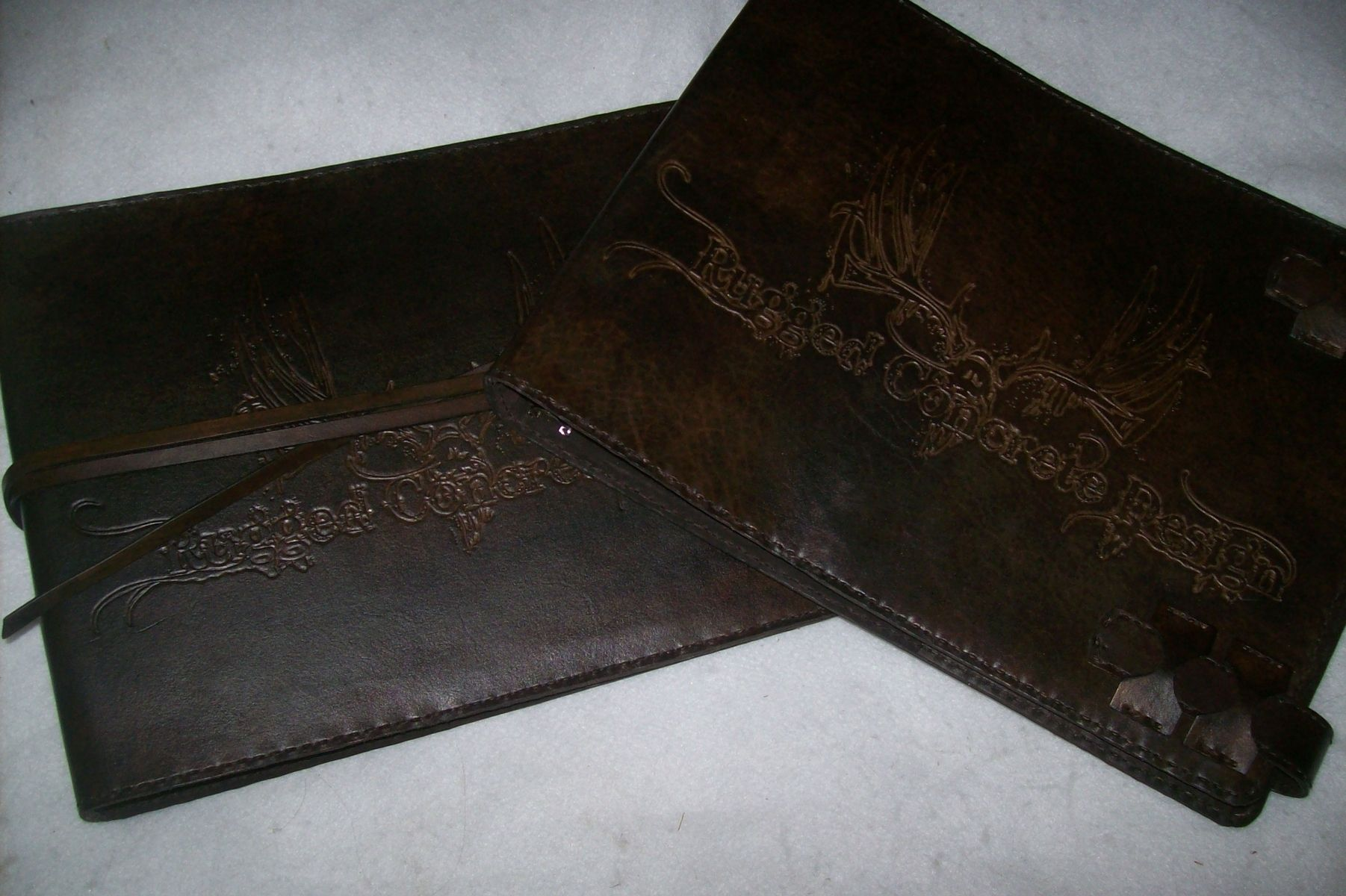 Business Checkbook Covers : Buy handmade custom leather business checkbook covers