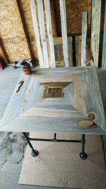 Custom Made Beetle Kill Pine Kitchen Table