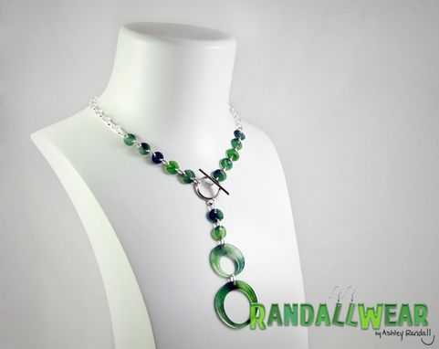 Custom Made Upcycled Green Lariat - Lightweight And One Of A Kind