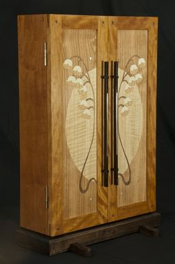Custom Made Lily Of The Valley Jewelry Cabinet